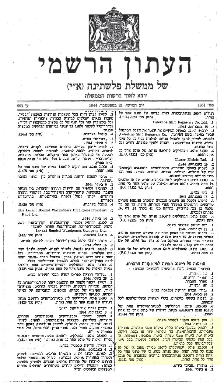 מתוך עיתון פלשתינה - בחן